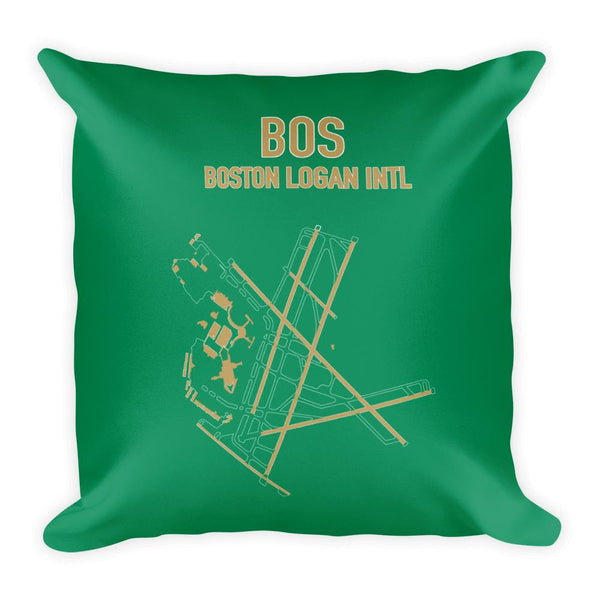 Boston Airport Code Pillow (Celtics Colors) - RadarContact