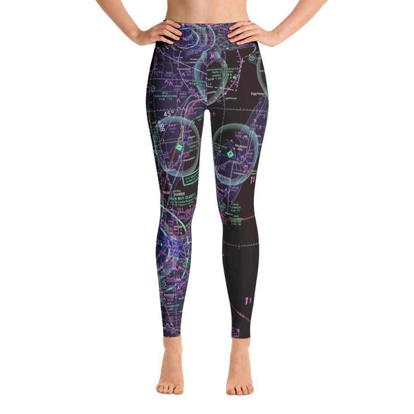 Green Bay Sectional Yoga Leggings (Inverted) - RadarContact