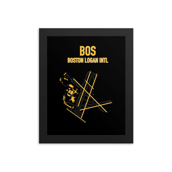 Boston Airport Code Framed Poster (Bruins Colors) - RadarContact - ATC Memes