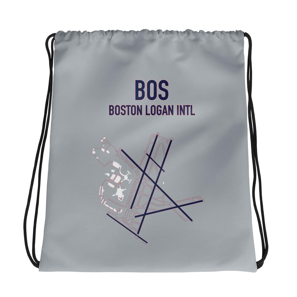 Boston Airport Code Drawstring Bag (Patriots Colors) - RadarContact - ATC Memes