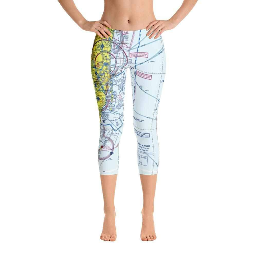 Miami Sectional Capri Leggings - RadarContact