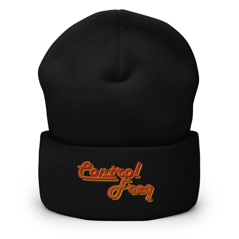 Control Freq Embroidered Cuffed Beanie