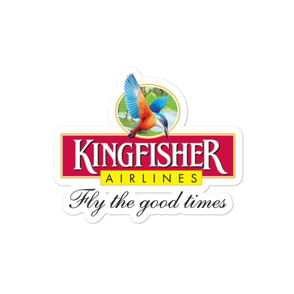 Retro Kingfisher Airlines Sticker