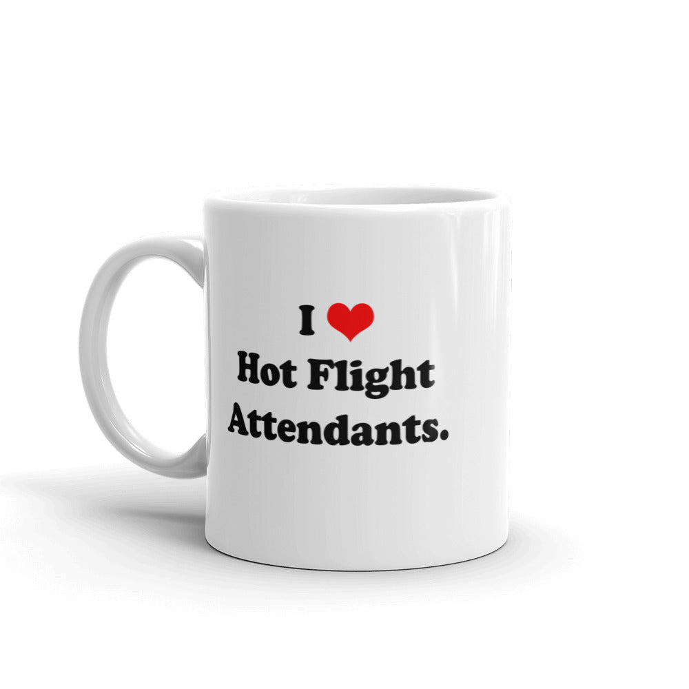 I Heart Hot Flight Attendants Mug