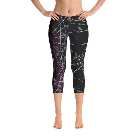West Palm Beach Low Altitude Capri Leggings (Inverted)