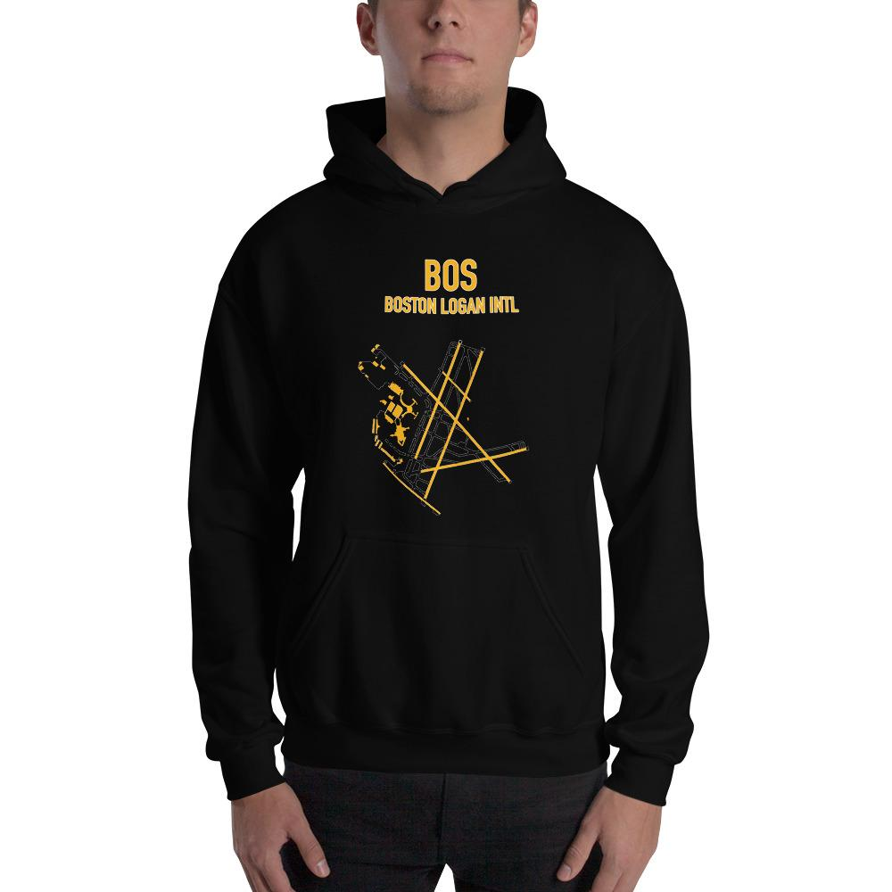 Boston Airport Code Hooded Sweatshirt (Bruins Colors) - RadarContact - ATC Memes