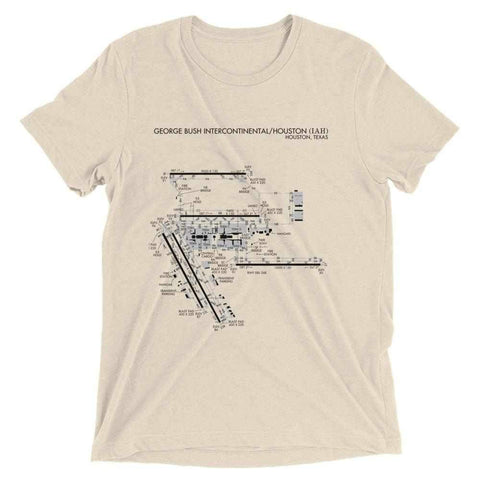 Houston Intercontinental Airport Diagram Men's T-Shirt - RadarContact - ATC Memes