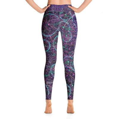 Atlanta Sectional Yoga Leggings (Inverted) - RadarContact - ATC Memes