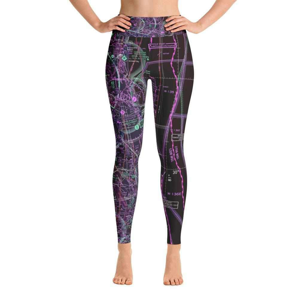Jacksonville Sectional Yoga Leggings (Inverted) - RadarContact - ATC Memes