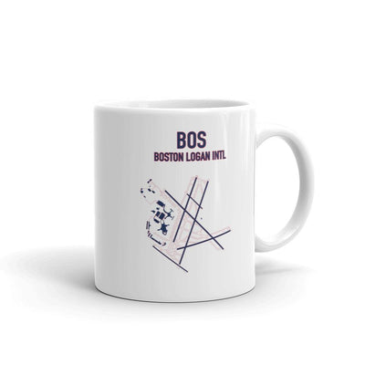 Boston Airport Mug (Red sox Colors) - RadarContact