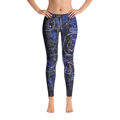 Daytona Beach Sectional Leggings (ERAU Colors) - RadarContact - ATC Memes