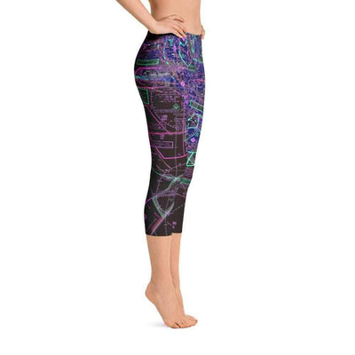 Los Angeles Sectional Capri Leggings (Inverted) - RadarContact
