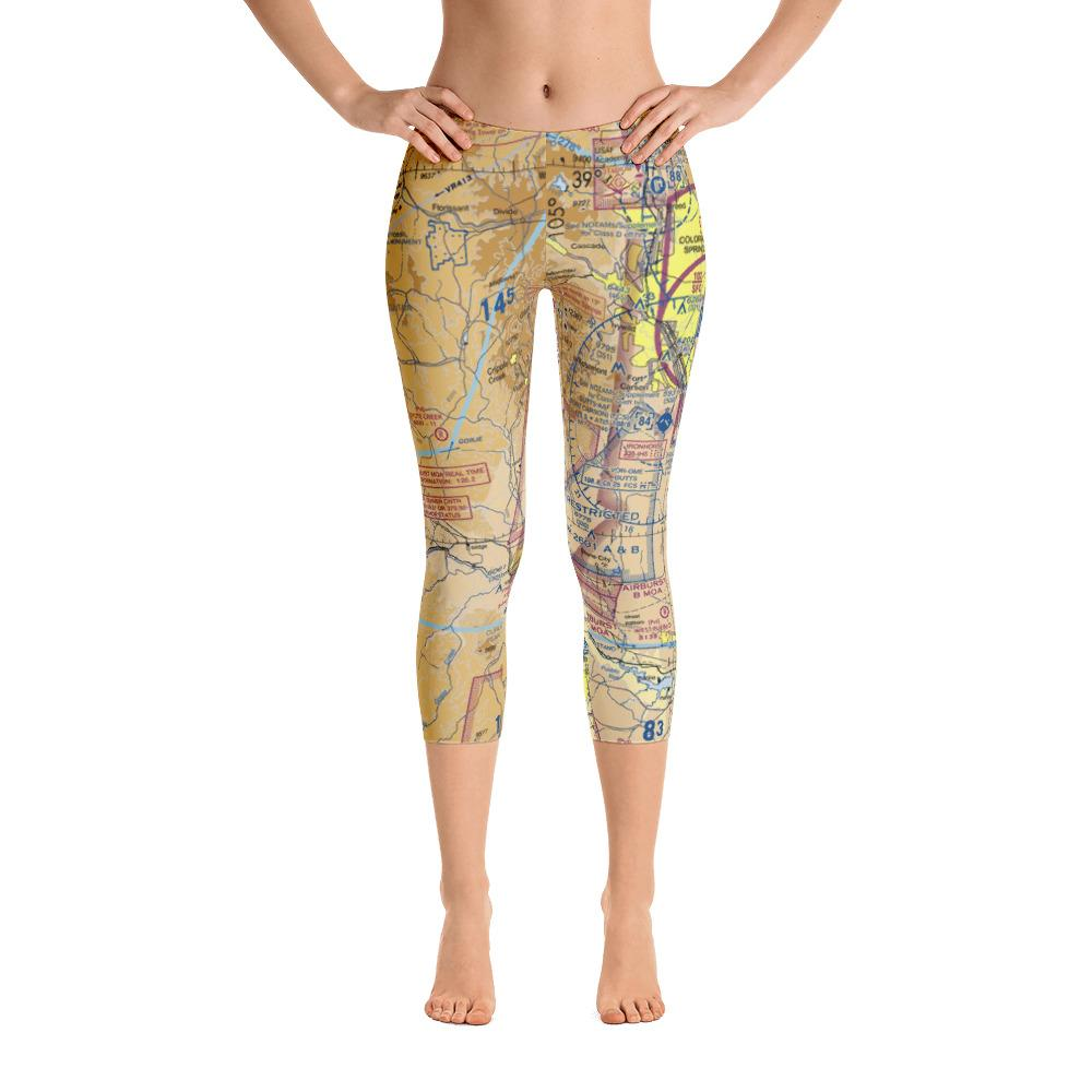 Colorado Springs Sectional Capri Leggings - RadarContact - ATC Memes