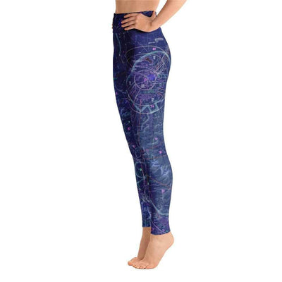 Great Falls Sectional Yoga Leggings (Inverted) - RadarContact - ATC Memes