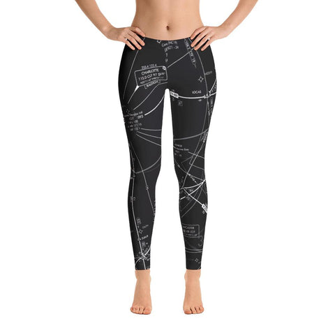 Charlotte Low Altitude Leggings (Inverted Black & White) - RadarContact - ATC Memes