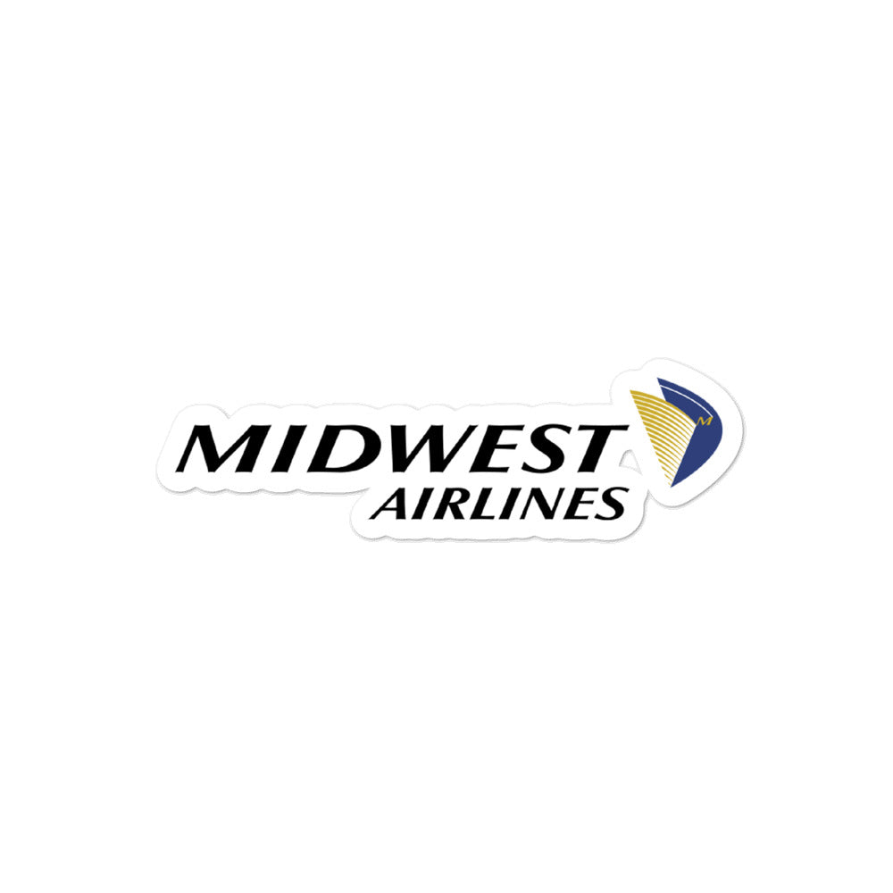 Retro Midwest Airlines Sticker - RadarContact