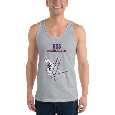 Boston Airport Code Tank Top (Redsox and Patriot Colors) - RadarContact - ATC Memes