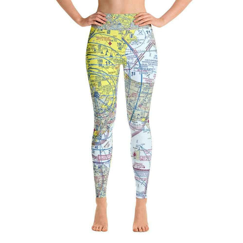 Detroit Sectional Yoga Leggings - RadarContact - ATC Memes