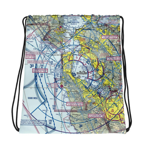 San Francisco Sectional Drawstring Bag