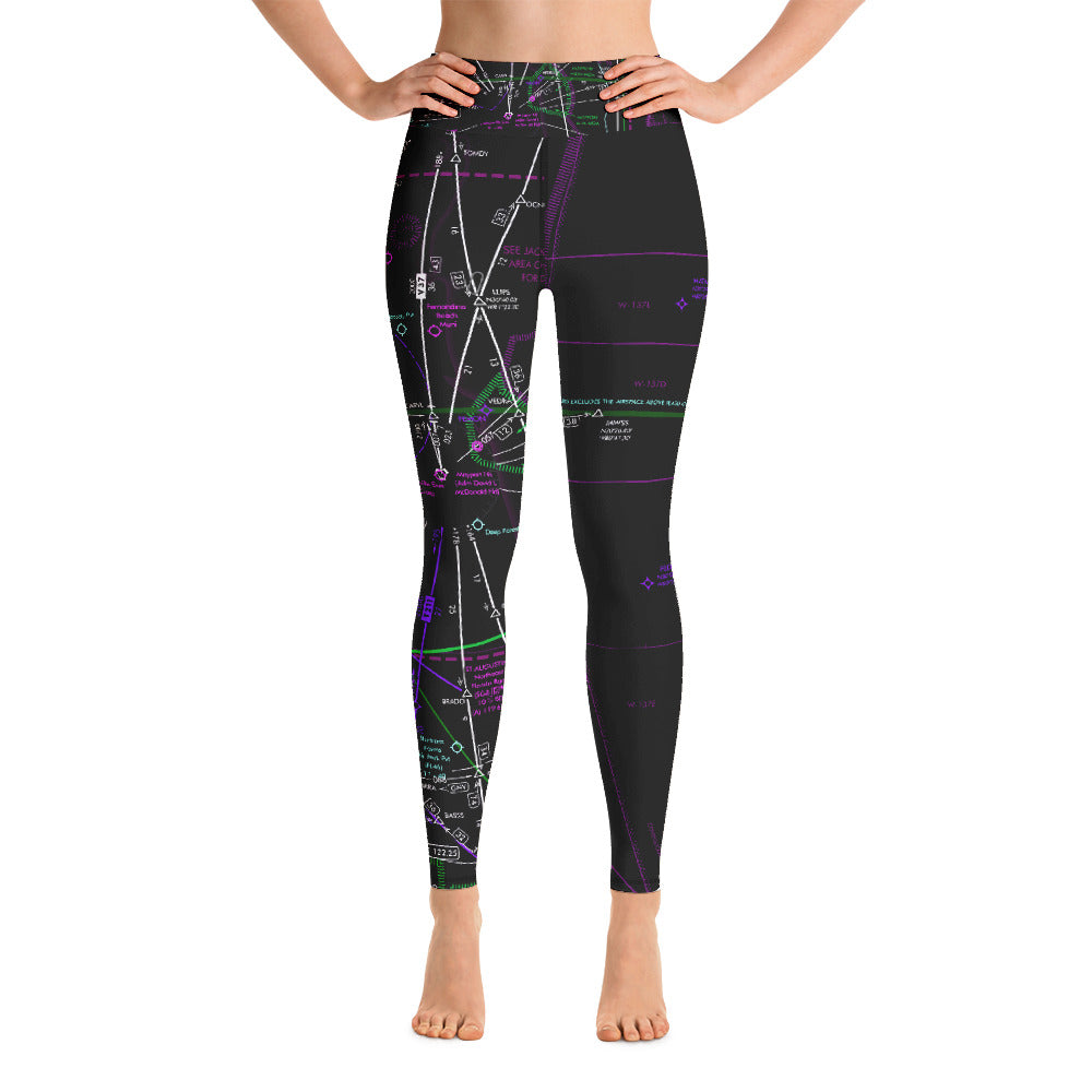 Jacksonville Low Altitude Yoga Leggings (Inverted)