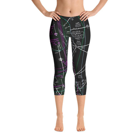 Palm Beach Low Altitude Capri Leggings (Inverted)