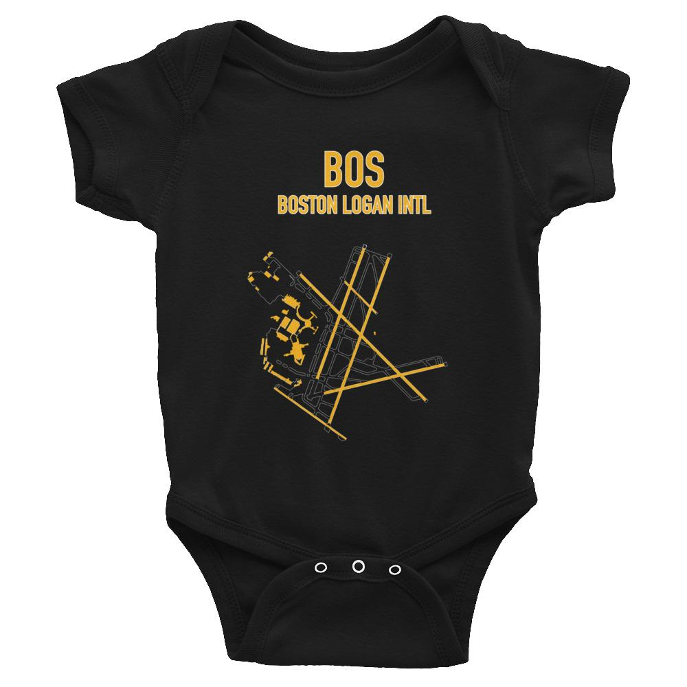 Boston Airport Code Infant Bodysuit (Bruins Colors) - RadarContact - ATC Memes