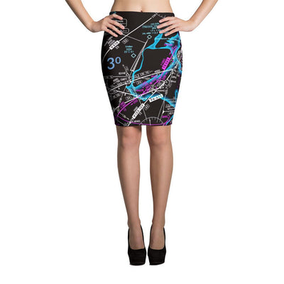 New York Low Altitude Pencil Skirt (Inverted)