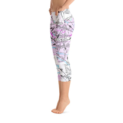 Los Angeles Low Altitude Capri Leggings - RadarContact