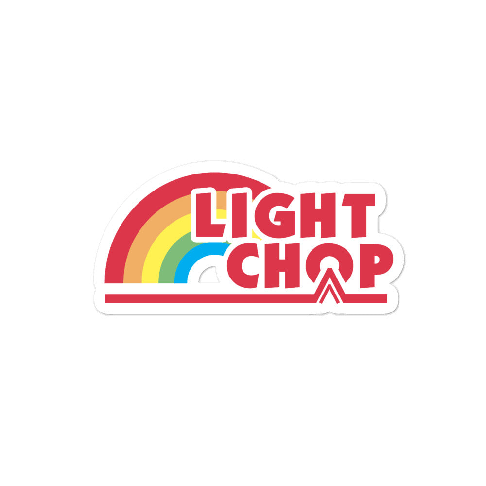 Light Chop Rainbow Sticker