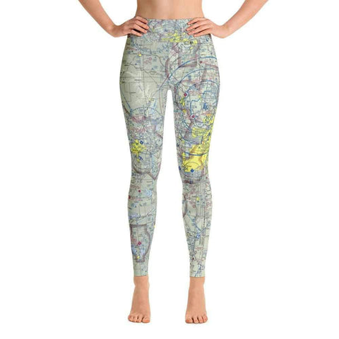 Kansas City Sectional Yoga Leggings - RadarContact - ATC Memes