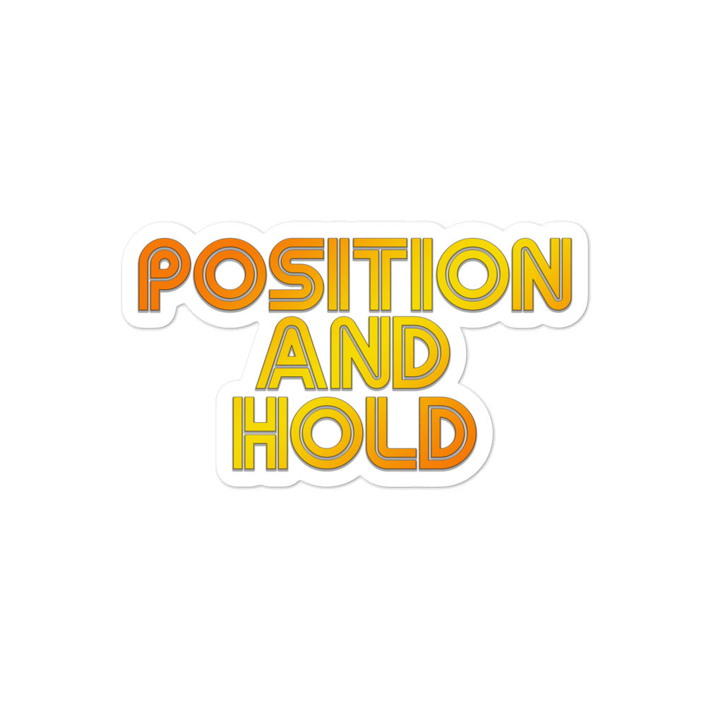 Position and Hold Retro Sticker - RadarContact