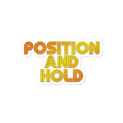 Position and Hold Retro Sticker