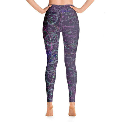 Kansas City Sectional Yoga Leggings (Inverted) - RadarContact - ATC Memes
