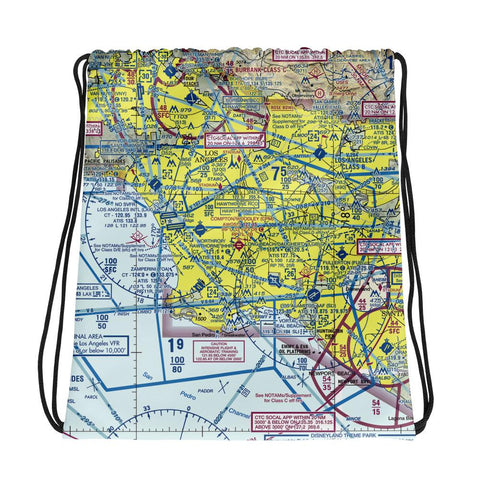 Los Angeles Sectional Drawstring Bag