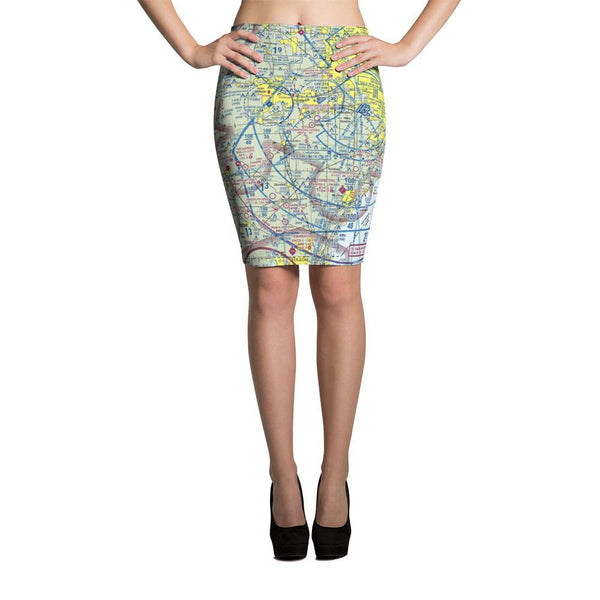 Detroit Sectional Pencil Skirt - RadarContact