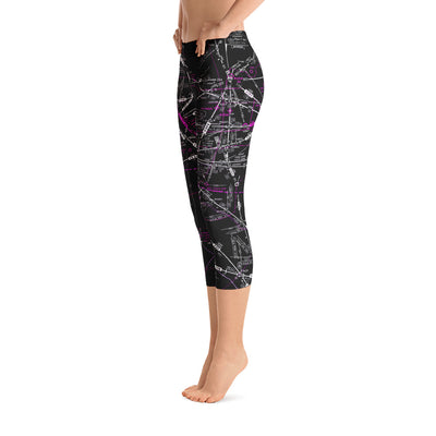 Los Angeles Low Altitude Capri Leggings (Inverted)