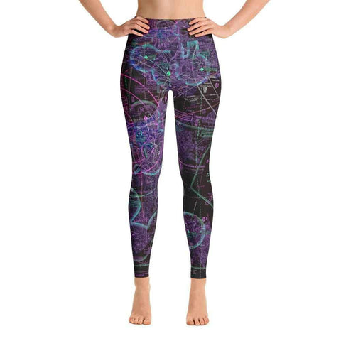 New Orleans Sectional Yoga Leggings (Inverted)