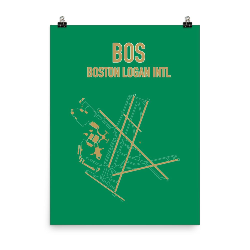 Boston Airport Code Poster (Celtics Colors) - RadarContact - ATC Memes