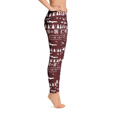Ugly Aviation Christmas Leggings (Red)