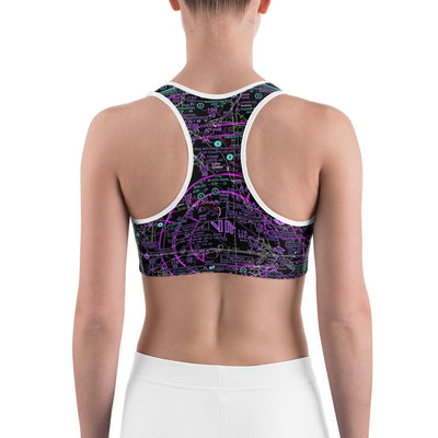 Dallas Sectional Sports Bra (Inverted) - RadarContact - ATC Memes