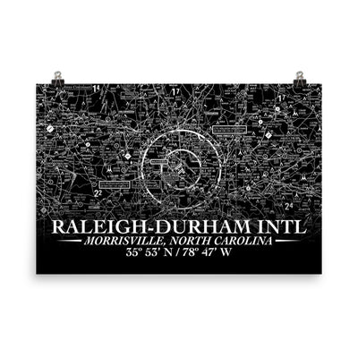 Raleigh-Durham Sectional Poster (Inverted)