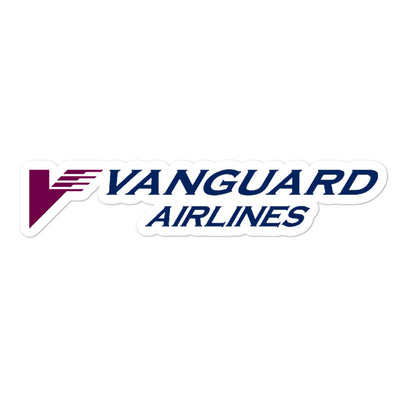 Retro Vanguard Airlines Sticker