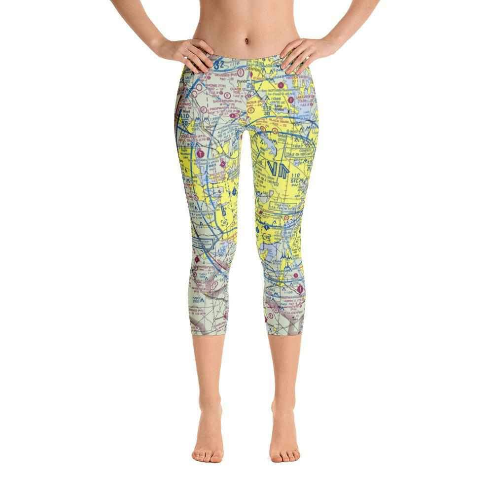 Dallas Sectional Capri Leggings - RadarContact - ATC Memes