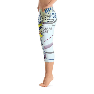 Guam Sectional Capri Leggings - RadarContact - ATC Memes