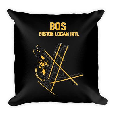 Boston Airport Code Pillow (Bruins Colors) - RadarContact - ATC Memes