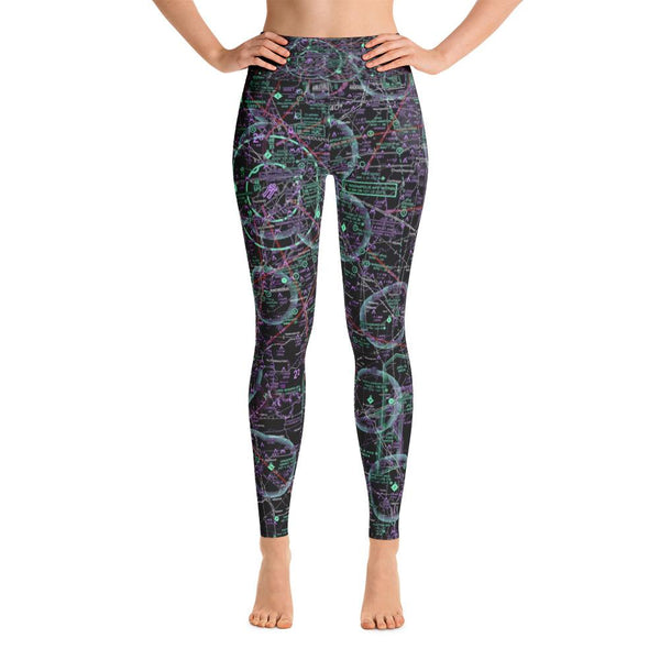 Indianapolis Sectional Yoga Leggings (Inverted) - RadarContact - ATC Memes
