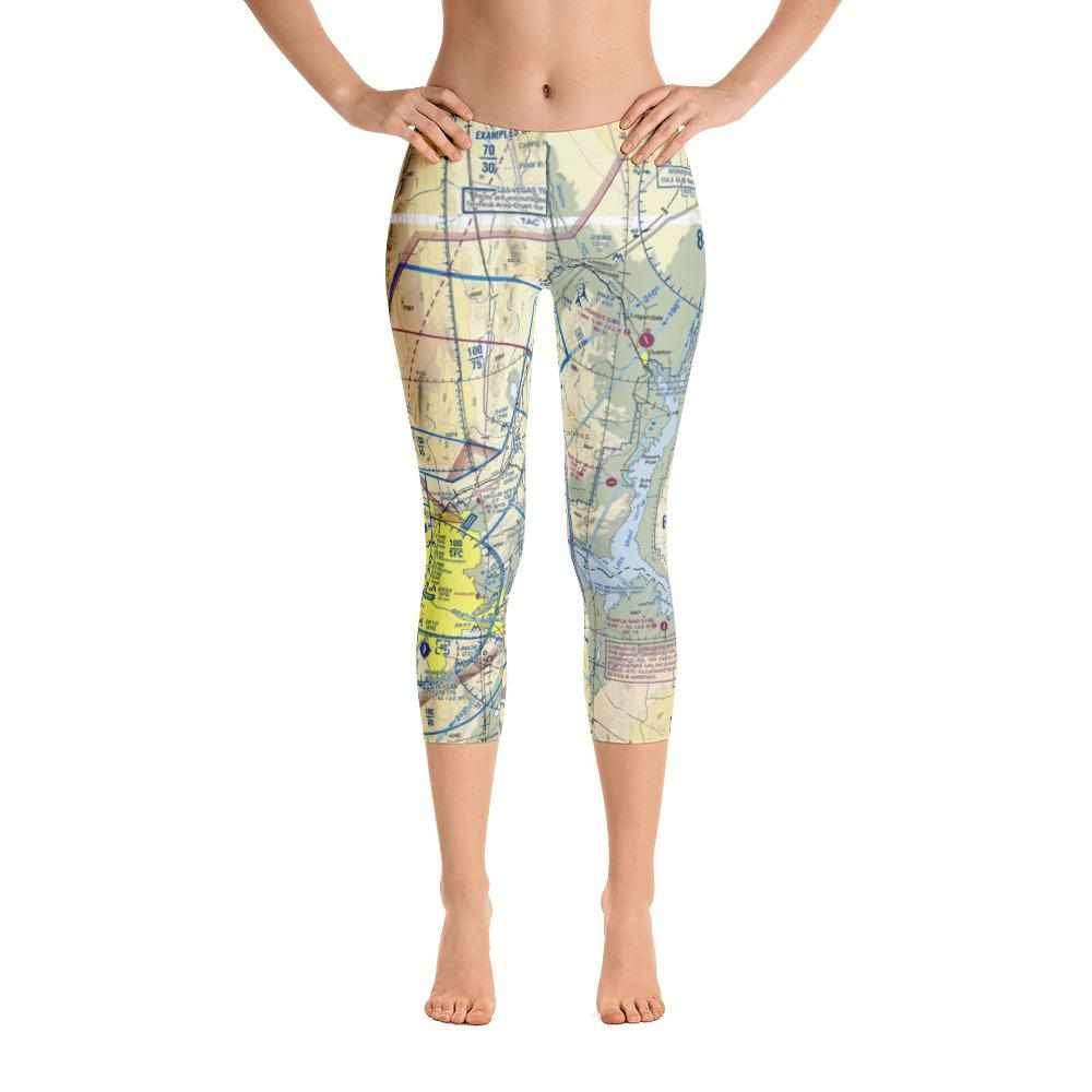 Las Vegas Sectional Capri Leggings - RadarContact
