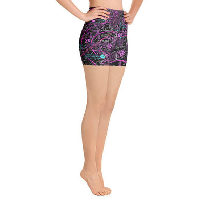 New York Sectional Yoga Shorts (Inverted)