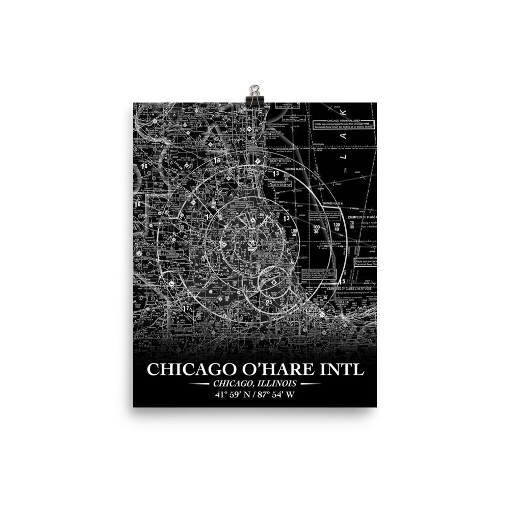 Chicago Sectional Poster (Inverted) - RadarContact