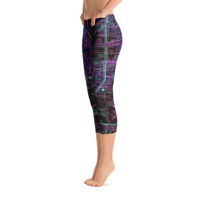 Detroit Sectional Capri Leggings (Inverted) - RadarContact - ATC Memes